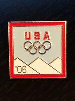 Collectible Vintage USA Olympics '06 Colorful Metal Pinback Hat Pin Lapel Pin
