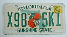 "FLORIDA  AUTO LICENSE PLATE "" X98 SKI "" SNOW WATER SKIER SKIING DOWNHILL FL"