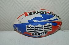 MINI BALLON RUGBY SERGE BLANCO QUINZE GILBERT ENGLAND ANGLETERRE  T 1 NEUF BALL