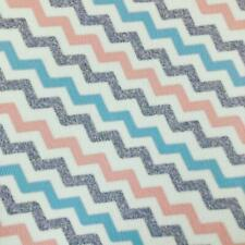 Bow Fabric A4 Leatherette Pastel Zig Zag Pink Purple Blue
