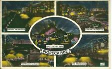 PRINTED Postcard- MORECAMBE  ILLUMINATIONS-VALENTINE-Multi-view