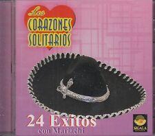 Los Corazones Solitarios 24 Exitos Con Mariachi CD New Nuevo sealed