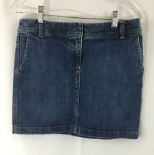 Ann Taylor Loft mini Denim Straight Above the Knee Jean Skirt Sz 4