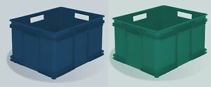 3 x 54 Ltr Unibox Industrial Stacking Recycled Plastic Storage Boxes Containers!