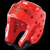 Macho Dyna Headgear Taekwondo Karate MMA Head Guard Head Gear Protector - RED XL