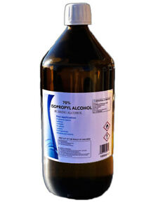1L 1000ml Isopropyl Alcohol 70 % Pure IPA Isopropanol Rubbing Alcohol