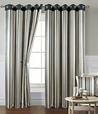 Unbranded Faux Silk Eyelet Top Curtains & Pelmets