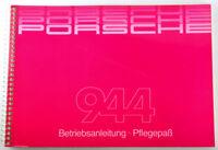 PORSCHE 944 Betriebsanleitung - Pflegepaß von 9/1984 - TOP / BLANCO