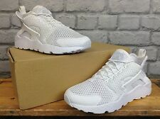 NIKE LADIES UK 5 EU 38.5 WHITE HUARACHE RUN ULTRA BREATHE TRAINERS RRP £110