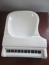 vintage LARGE GRAND PIANO Pottery ASHTRAY Candy Dish DECO & IRIDESCENT