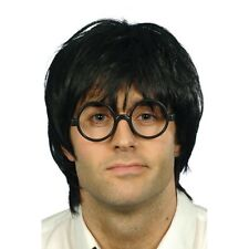 Mens Schoolboy Set Wig & Glasses Harry Potter Fancy Dress Costume Wizard Scruffy