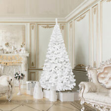 8Ft Artificial PVC Christmas Tree W/Stand Holiday Season Home Outdoor White