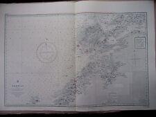 """1971 Norvegia Marche Fiordo di LEKA NAUTICO MARE Mappa di navigazione grafico 28"""" x 41"""" B88"""