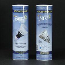 ASHAWAY BIRD2 BADMINTON PLASTIC SHUTTLECOCKS MEDIUM SPEED 1 DOZEN WHITE  RRP £40