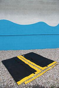 Hobie Cat 16 Trampoline Black Mesh w/ Pocket And Yellow Tough Wrap  w/Zip Pocket