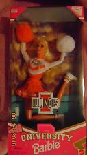 1996 Special Edition ILLINOIS University Barbie Mint New in Box Bends Moves