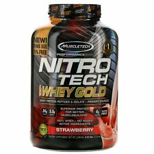 Muscletech Nitro Tech 100 Whey Gold Strawberry 5 53 lbs 2 51 kg Banned Substance