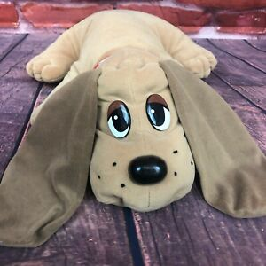 """Vintage Pound Puppies Galoob Electronic 18"""" Puppy Dog Brown Red Collar 1998"""