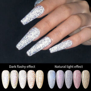 BORN PRETTY  6ml Reflective Glitter Nail Gel Varnish Auroras Holog Soak Off Gel