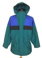 Columbia Mens M Outdoors Ski Outer Shell Jacket Vented Dark Green Blue Black