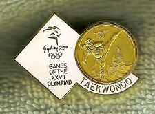 Gilt 2000 Olympic Sports Badge - Taekwondo, Tae Kwon Do