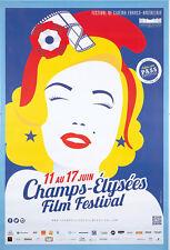 Original Vintage Poster Champs Elysees Film Festival Paris 2014 France
