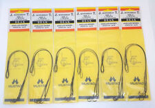 "6 Packs Of Size 6 8"" Coated Wire Leader Beak Snelled Hooks 3Pcs Per Pack"