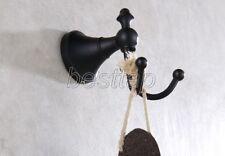 Oil Rubbed Bronze Bathroom Double Robe Coat Hat Towel Hanger Hook Holder sba857