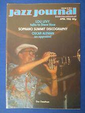 JAZZ JOURNAL MAGAZINE APRIL 1982 OSCAR ALEMAN FRANKIE CAPP  LOU LEVY & MORE