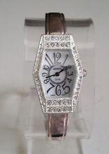 Designer  silver finish Rhinestones bangle cuff fashion women's dressy watch