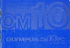 Olympus OM10FC Instruction Manual original