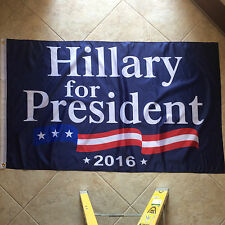 "3'X5' ""Hillary For President 2016"" Flag Ships From Florida"