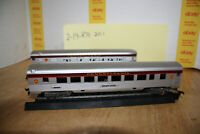 Pair of Lighted HO Silhouette Pennsylvania Passenger Cars Maybe Con Cor?