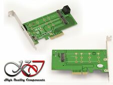 Controller Card PCIe 4x for 2x SSD M.2 SATA and 1x SSD M2 PCIe 2 / 4 lane