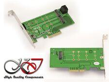 Scheda Controller PCIe 4x per 2x SSD M.2 SATA e 1x SSD M2 PCIe 2 / 4 lane