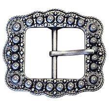 C-Ty02 Set Of 2 Antique Silver Finished Berry Belt Buckle With Rope Edge