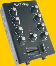 ibiza MIX500 # 2-KANAL Audio  MISCHPULT #  Mini DJ Mixer