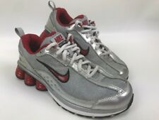 Nike Shox Turmoil Size 4.5Y Athletic Shoes Sneakers Silver Red 366829-061