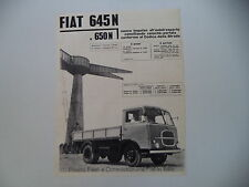 advertising Pubblicità 1960 AUTOCARRO FIAT 645 N