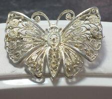 Filigrane Schmetterling Silberbrosche Brosche 835er Silber Schmetterlingsbrosche