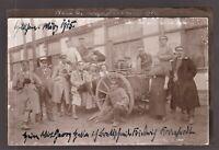 FIELD KITCHEN WW1 GERMAN CORP. REGIMENT SOLDIERS ANTIQUE PHOTO POSTCARD