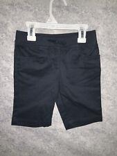 Chaps Girls Navy Chino Stretch School Uniform Shorts Size 6 Reg Nwt