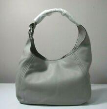 Michael Kors Fulton Pebbled Leather Pearl Grey Large Hobo Shoulder Bag