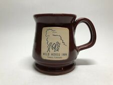 Deneen Pottery Wild Horse Inn Fraser CO Mug Cup Maroon 2009 USA Hand Thrown