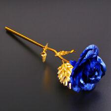 24K Gold Rose Flower Long Stem Golden Dipped Flower Valentine's Day Lovers' Gift