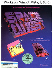 Space Quest 1 + 2 + 3 PC Game Windows XP Vista 7 8 10