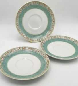 x3 Wedgwood Home Aztec Breakfast Saucers  For Breakfast Cups NEW & UNUSED