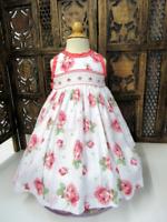 NWT Beautiful Will'Beth Rose Print Dress  3T  Easter!