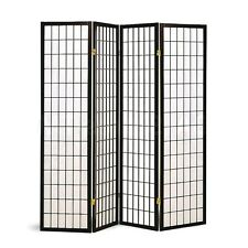 screen divider room 4 panel privacy folding wall oriental style wood home decor - Home Decor Screens