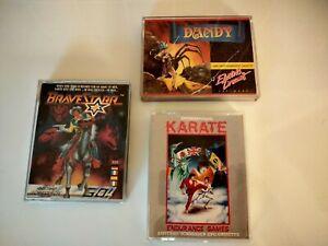 lot 3 jeux amstrad cpc cassettes , dandy, bravestarr ,international karaté